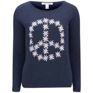Autumn Cashmere Women's Crew Neck Cashmere Knit Jumper - Navy Combo