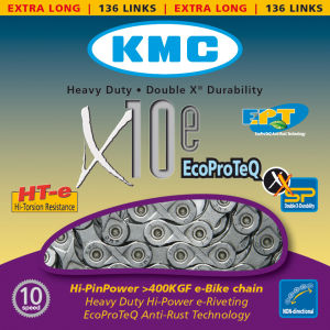 KMC X10 Eco Pro Teq Chain - 136 Links - Silver