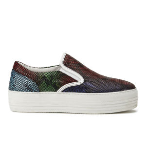 House of Holland Women's Platform Snake Leather Slip-on Trainers - Snake Multi