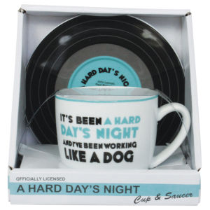 Lennon and McCartney Mug and Saucer Set - A Hard Days Night