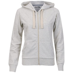 Brave Soul Women's Adrian Zip Through Hoody - Oatmeal Marl
