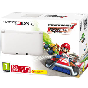 Nintendo 3DS XL Console Limited Edition Ice White: Includes - Mario Kart 7 Pre-Installed