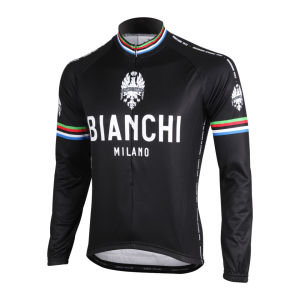 Bianchi Men's Leggenda Celebrative Long Sleeve Jersey - Black