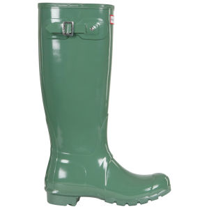 Hunter Women's Original Tall Gloss Wellies - Moss Green