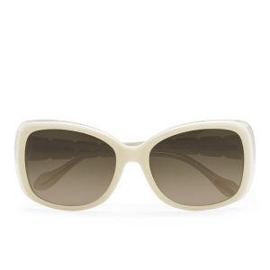 Vivienne Westwood Oversized Swarovski Temple Logo Sunglasses - Ivory/White Crystal