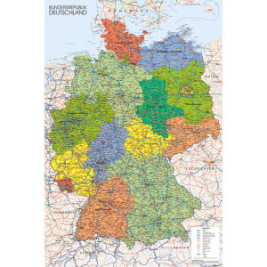 Germany Map - Maxi Poster - 61 x 91.5cm