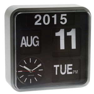 Karlsson Wall Clock Mini Flip - Black