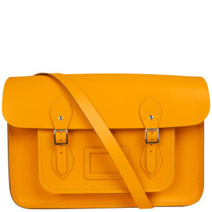 Cambridge Satchel Company 15 Inch Leather Satchel - Yellow