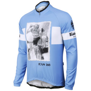 Bianchi Men's Favara Long Sleeve Jersey - Blue