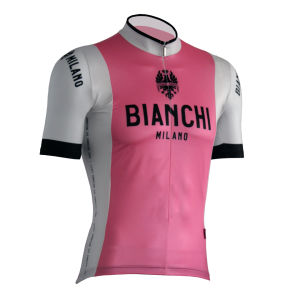 Bianchi Tripi Short Sleeve Jersey - Pink/White