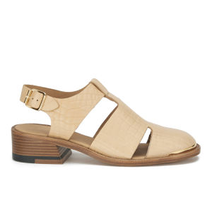 Purified Women's Patti 7 Leather Cut Out Sandals - Natural Croc