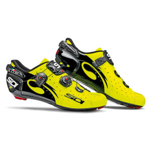 Sidi Wire Carbon Vernice Cycling Shoes - Black/Yellow Fluo