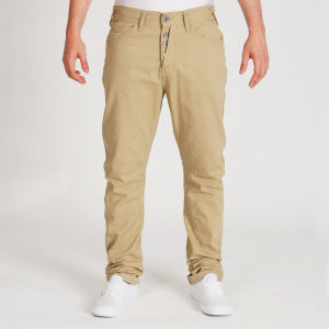 Brave Soul Men's Denis Twisted Leg Chino - Sand