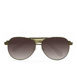 Vivienne Westwood Matt Aviator Sunglasses - Bronze
