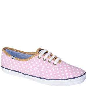 Keds Women's Champion Oxford Pumps - Pink/White Polka Dot
