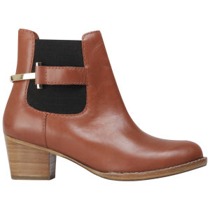 Ted Baker Women's Jureo Leather Short Shaft Boots - Dark Tan