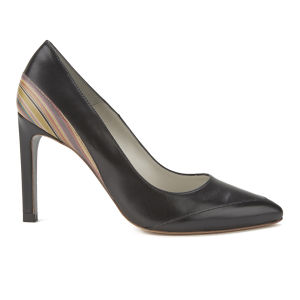 Paul Smith Shoes Women's Ayla Leather Court Shoes - Black Ante Kid