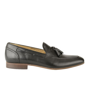 H Shoes by Hudson Men's Pierre Leather Tassel Loafers - Black