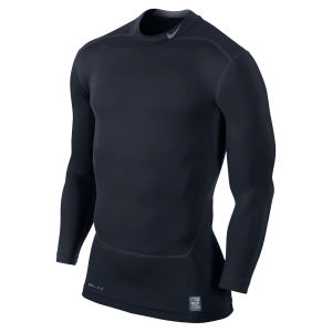 Nike Men's Core Compression Long Sleeve Mock Top 2.0 - Dark Obsidian