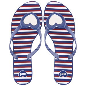Mel Women's Honey Heart Flip Flops - Navy