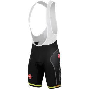 Castelli Free Aero Race Bib Shorts - Black/Lime
