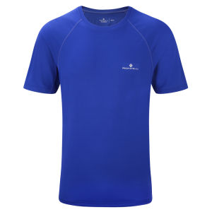 RonHill Men's Advance Motion Short Sleeve Crew T-Shirt - Ultramarine