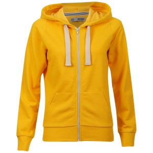 Brave Soul Women's Adrian  Hooded Zip Through - Sunshine Yellow