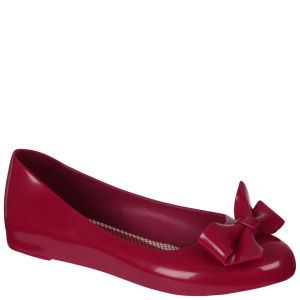 Mel Women's Tangerine Bow Pump - Red