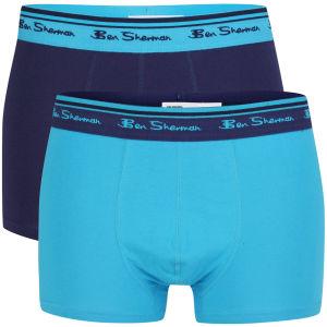 Ben Sherman Men's 2-Pack Boxer - Astral Blue/Grey