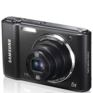 Samsung ES91 Compact Digital Camera (14MP, 5x Optical, 2.7 Inch LCD) - Black