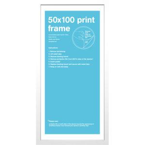 White Frame 50 x 100cm