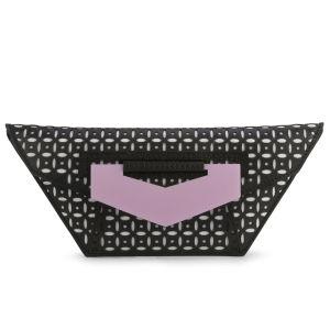 Kzeniya 'Wild' Laser Cut Perspex/Leather Clutch Bag - Black