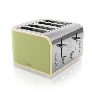 Swan 4 Scheiben Toaster - Grün