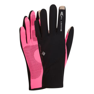 RonHill Women's Scirocco Gloves - Black/Fluorescent Pink