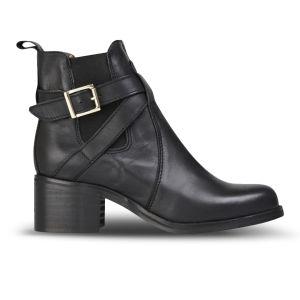 Carvela Women's Sadie Heeled Leather Ankle Boots - Black