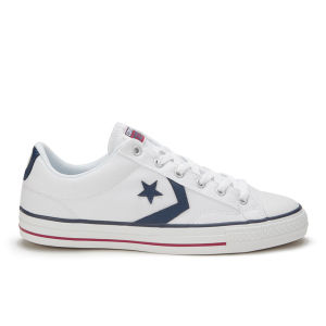 Converse CONS Men's Star Player Canvas Trainers - White/Navy