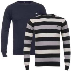 55 Soul Men's 2-Pack Crew Knit - Navy/Multi