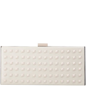 French Connection Anya Leather Clutch Bag - White
