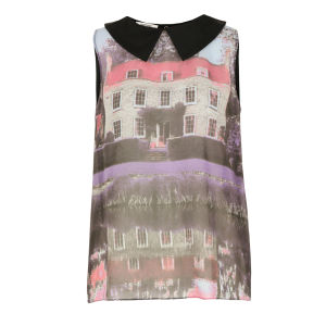 Moschino Cheap and Chic Women's J0218 Print Top - Purple/Multi