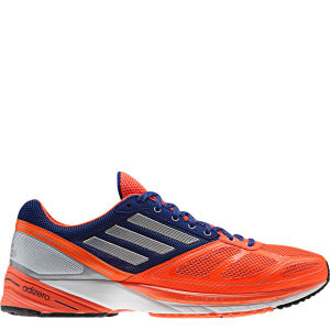 adidas Men's Adizero Tempo 6 Running Shoe - Infrared/Tech Silver Met/Hero Ink