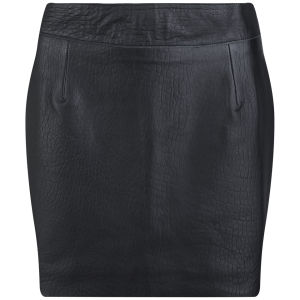 Lot 78 Women's Leather Skirt - Black