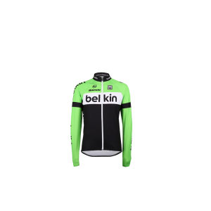 Belkin Team Replica Long Sleeve Jersey - Black/Green 2014