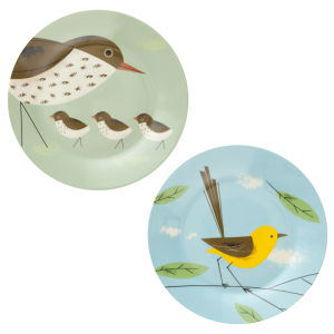 Birdy Set of 2 Dinner Plates 10.5