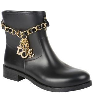 Love Moschino Women's Short Rain Boots - Black
