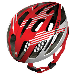 Carrera Razor X-Press 2014 Road Helmet - White/Red