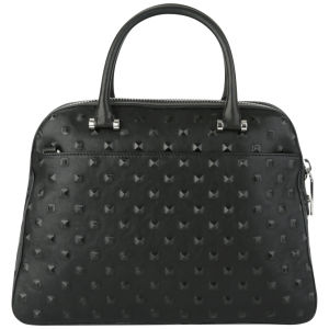 MILLY Perry Stud Kettle Leather Tote Bag - Black