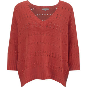 Great Plains Women's To the Point V-neck Knit - Tulip