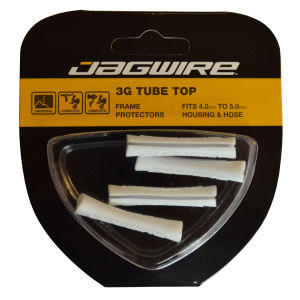Jagwire Cable Tube Tops - White (x4)