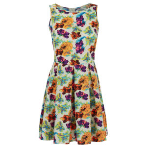 Madam Rage Women's Bright Floral Skater Dress - Multi