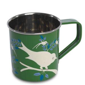 Nkuku Eva Hand Painted Mug - Green - 8cm(Diameter) x 9cm(H)
